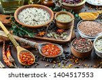 spices and seasonings for... | Shutterstock . vector #1404517553