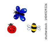 Insects Cartoon Style Butterfly ...