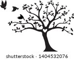 flying birds on tree vector ... | Shutterstock .eps vector #1404532076