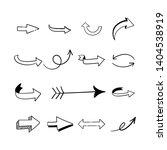 hand drawn arrows. arrow...   Shutterstock .eps vector #1404538919
