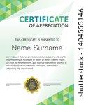 certificate modern template... | Shutterstock .eps vector #1404555146