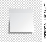 realistic sticky note. white... | Shutterstock .eps vector #1404558629
