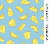 seamless cheese pattern. vector ... | Shutterstock .eps vector #1404559646