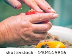 stuffed with minced meat bell... | Shutterstock . vector #1404559916