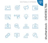 seo related icons. editable... | Shutterstock .eps vector #1404581786