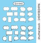 speech bubbles set  vector... | Shutterstock .eps vector #1404583496