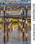 solar photovoltaic panel cement ... | Shutterstock . vector #1404586130