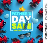 father's day sale promotion... | Shutterstock .eps vector #1404606443