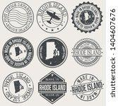 rhode island set of stamps.... | Shutterstock .eps vector #1404607676