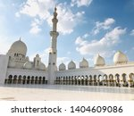 view of sheik zayed mosque in...   Shutterstock . vector #1404609086