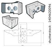 google cardboard and die cut... | Shutterstock .eps vector #1404620096