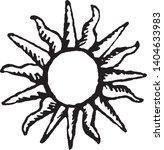vector sun symbol in engraving... | Shutterstock .eps vector #1404633983