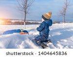 a little boy of 3 years old  in ... | Shutterstock . vector #1404645836