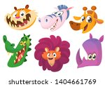 cartoon african funny animals... | Shutterstock . vector #1404661769
