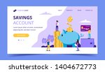 saving money landing page  ... | Shutterstock .eps vector #1404672773