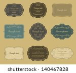 set of vector vintage labels. | Shutterstock .eps vector #140467828