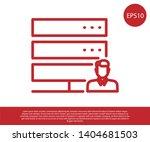 red customer care server icon... | Shutterstock .eps vector #1404681503