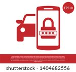 red smart car security system... | Shutterstock .eps vector #1404682556
