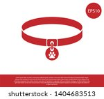 red collar with name tag icon... | Shutterstock .eps vector #1404683513