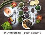 future food  organic plant... | Shutterstock . vector #1404685049