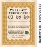 orange vintage warranty... | Shutterstock .eps vector #1404703586