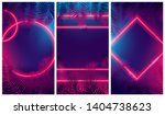 bright red glow from geometric... | Shutterstock .eps vector #1404738623