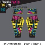 leggings pants fashion with... | Shutterstock .eps vector #1404748046