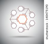 six compounds with the basic... | Shutterstock .eps vector #140475190