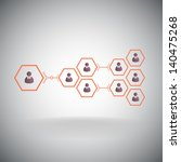 pyramid of hexagonal cells.... | Shutterstock .eps vector #140475268