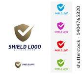 shield check logo design... | Shutterstock .eps vector #1404765320