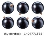 black currant isolate. top view.... | Shutterstock . vector #1404771593
