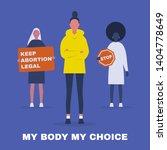 my body my choice. keep... | Shutterstock .eps vector #1404778649