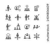 business and meeting set icons | Shutterstock .eps vector #1404806609