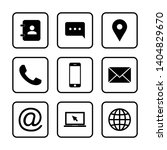 web icon set. contact us icons. ... | Shutterstock .eps vector #1404829670