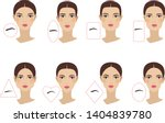 female eyebrow shapes in... | Shutterstock .eps vector #1404839780