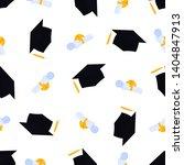academic mortarboard with... | Shutterstock .eps vector #1404847913