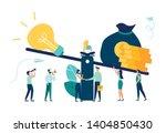 a vector illustration of groups ... | Shutterstock .eps vector #1404850430