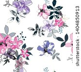 seamless pattern with spring... | Shutterstock .eps vector #1404850913