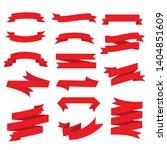 lassic ribbons. flat vector... | Shutterstock .eps vector #1404851609
