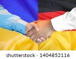business handshake on the... | Shutterstock . vector #1404852116