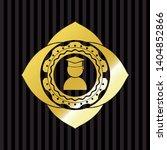 graduation icon inside golden...   Shutterstock .eps vector #1404852866