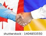 business handshake on the... | Shutterstock . vector #1404853550
