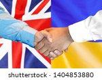 business handshake on the... | Shutterstock . vector #1404853880