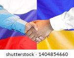 business handshake on the... | Shutterstock . vector #1404854660