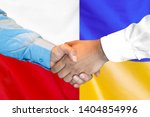 business handshake on the... | Shutterstock . vector #1404854996