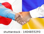 business handshake on the... | Shutterstock . vector #1404855293