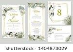 wedding invitation card design  ...   Shutterstock .eps vector #1404873029