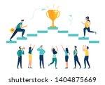 vector illustration  people run ... | Shutterstock .eps vector #1404875669