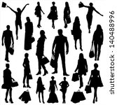 people and shopping | Shutterstock .eps vector #140488996