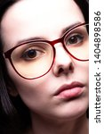 beautiful girl with glasses... | Shutterstock . vector #1404898586